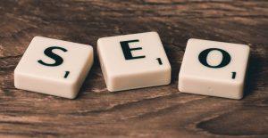 SEO word made of letter blocks