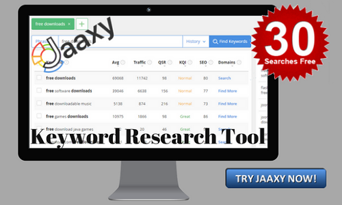Jaaxy - keyword research tool