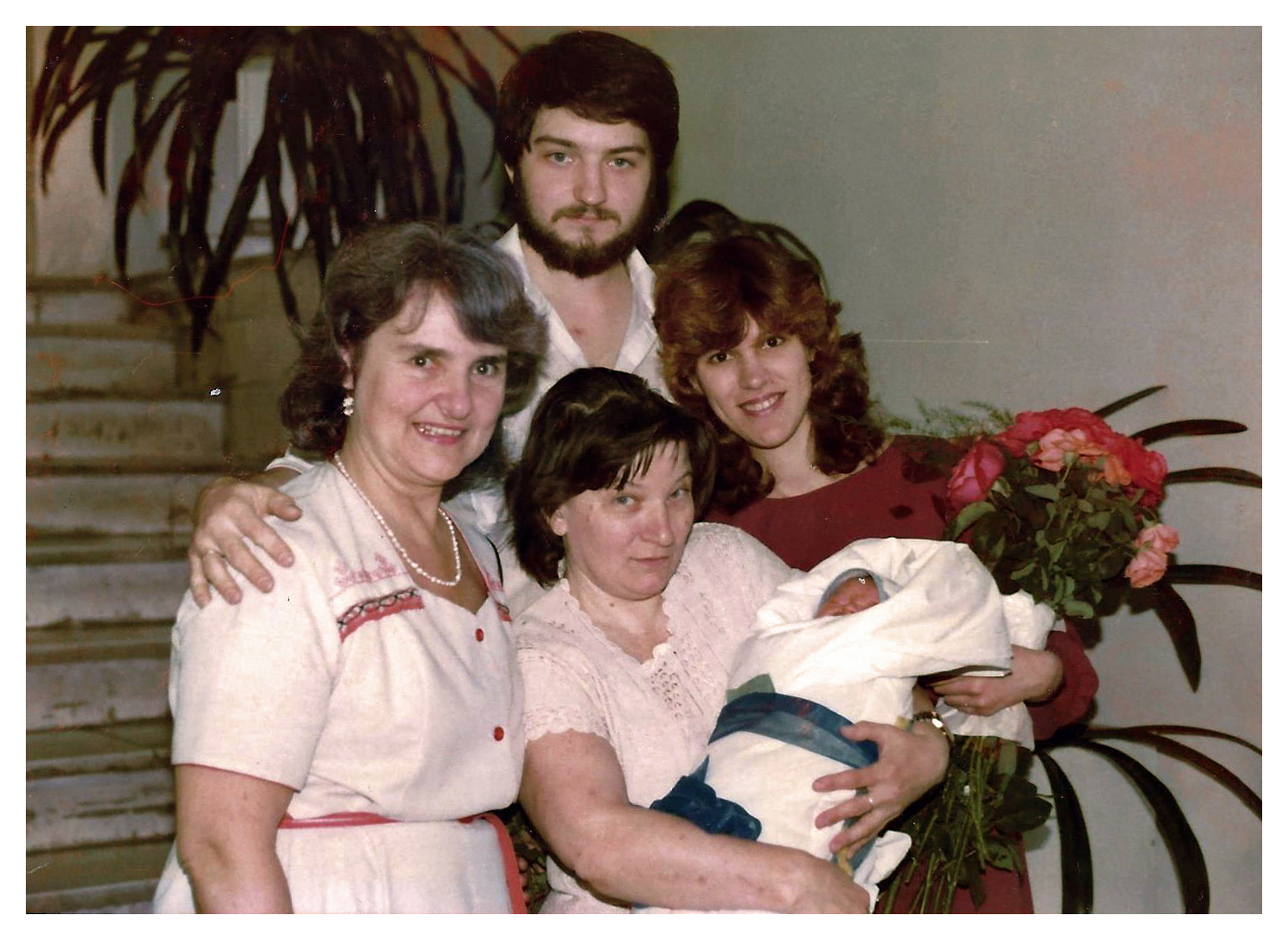 My Family with our newborn son on July 2, 1991