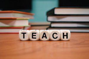 "Books and the word ""Teach"""