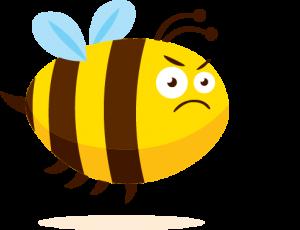 Sad Bee - cartoon drawing