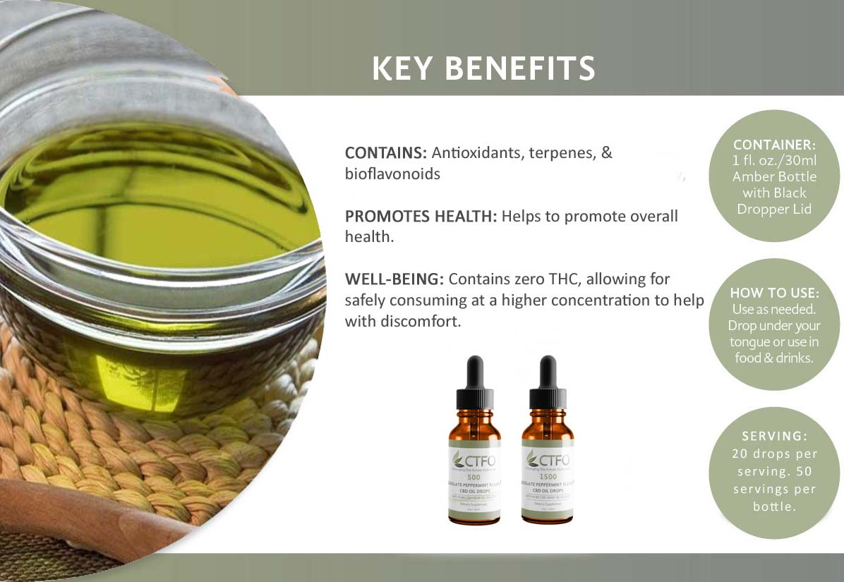 Isolate CBD Oil Key Benefits