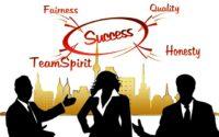 Success: Honesty, Quality, Fairness, Team Spirit