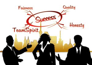 Success: Honesty, Quality, Fairness, Team Spirit