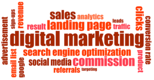 Graphics for the Marketing Terminology: Search Engine Optimization, Leads, Traffic, Conversion rate and more