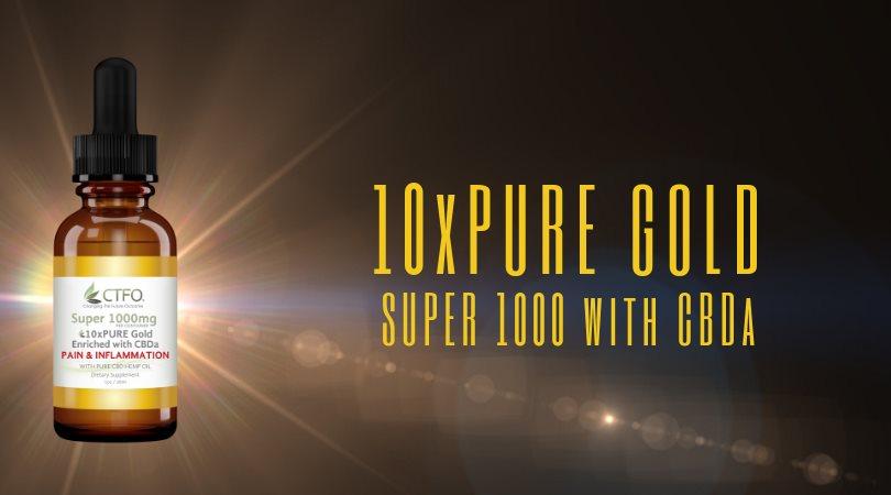 10x Pure GOLD - Super 1000 with CBDa