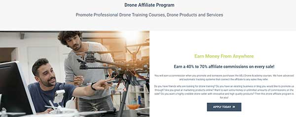 Drone Affiliate Program. Earn a 40% to 70% affiliate commissions on every sale!