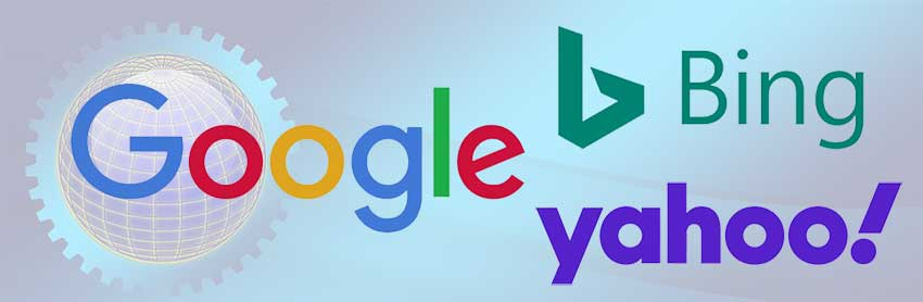 3 Big Search Engines: Google, Bing and Yahoo.