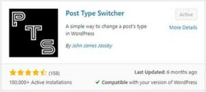 WordPress Post Type Switcher Plugin thumbnail - Install Now