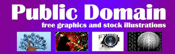 Public Domain banner, free graphics and stock illustrations
