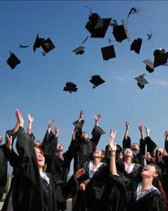 WFG College Education Funding - Graduation Cap Throwing