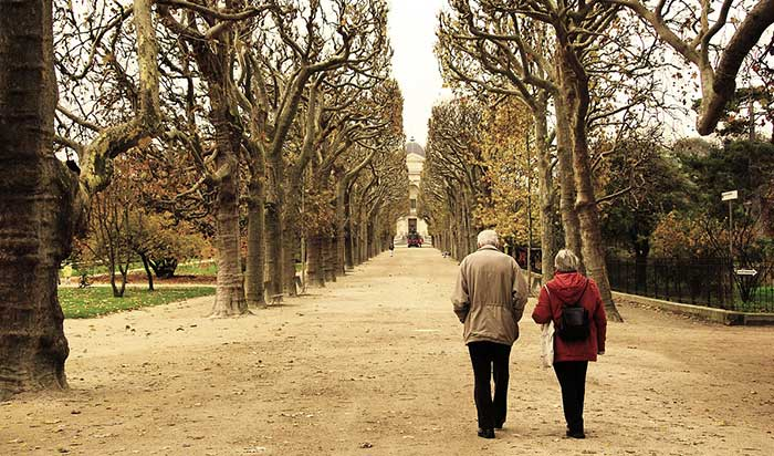 COVID-19 And The Elderly: Walking outside and breathing fresh air is essential for the wellness of the elderly